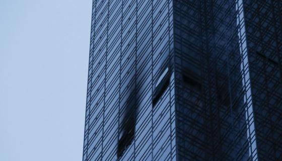 El incendio ocurrió en el piso 50 de la Trump Tower este sábado. LA PRENSA / AFP