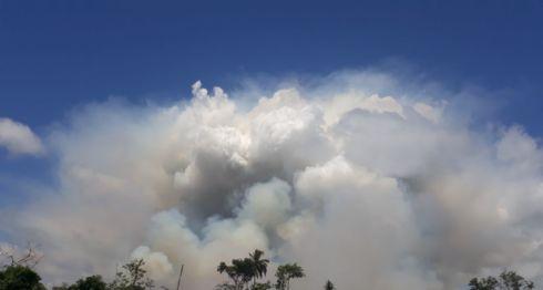 incendio en Indio Maíz, Indio Maíz, reserva Indio Maíz