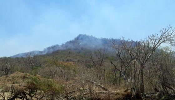 Incendios en lomas aledañas del Volcán Cosigüina-El Viejo. LAPRENSA/S. Martinez