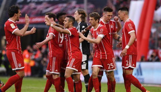 El Bayern de Múnich lleva tres goleadas en sus últimos tres partidos en la Bundesliga. LA PRENSA/EFE/EPA/LUKAS BARTH