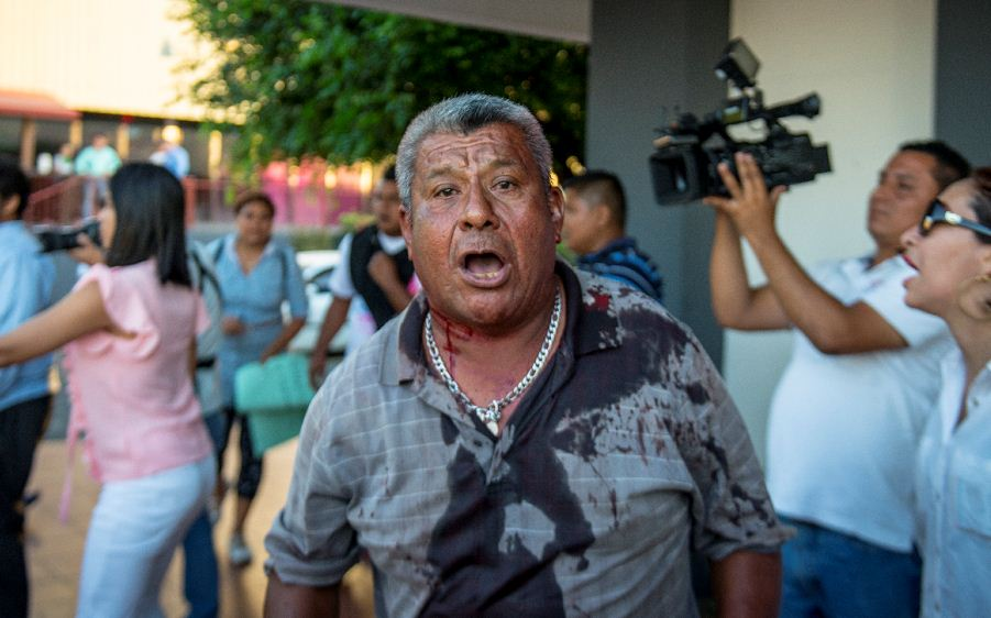 Anciano agredido por la Juventud Sandinista en Camino de Oriente. LA PRENSA/ Wilmer López