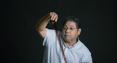 René Ortega tiene 39 años de trabajar en el diario LA PRENSA. Allí ha vivido los momentos más dulces y amargos de su vida.