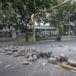 Calles de Managua amanecen con baches y llantas quemadas tras una noche de protesta