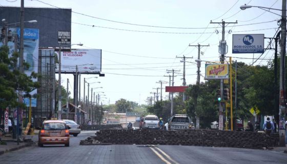 Managua llena de barricadas
