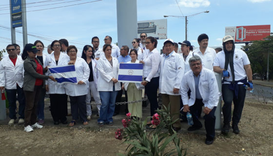 médicos, Nicaragua, protestas