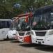 Menos buses del transporte urbano colectivo el día de la marcha en Managua