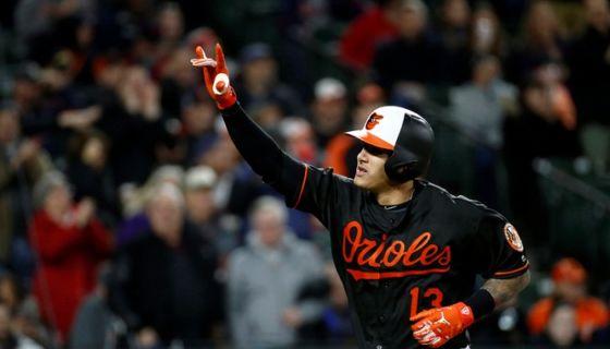 Manny Machado conectó cinco jonrones en la semana que acaba de concluir en el beisbol de Grandes Ligas. LA PRENSA/AP/Patrick Semansky