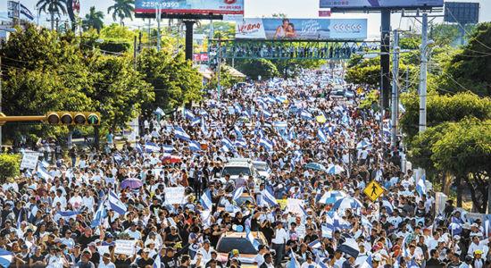 Miles de ciudadanos marchan por la libertad y democracia en Nicaragua