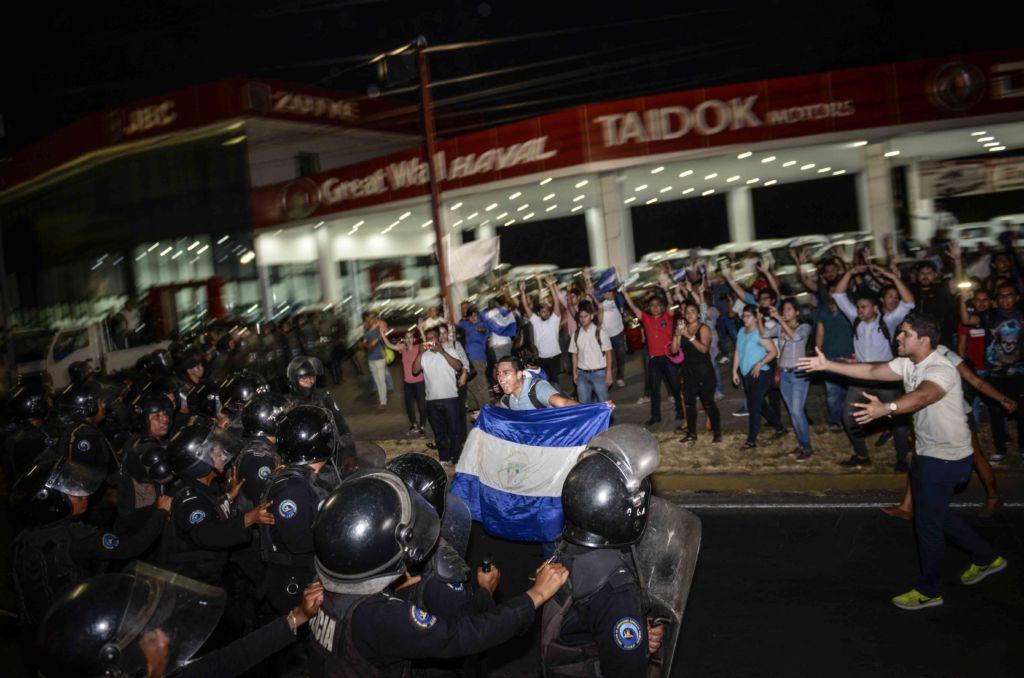 protestas en nicaragua, camino de oriente