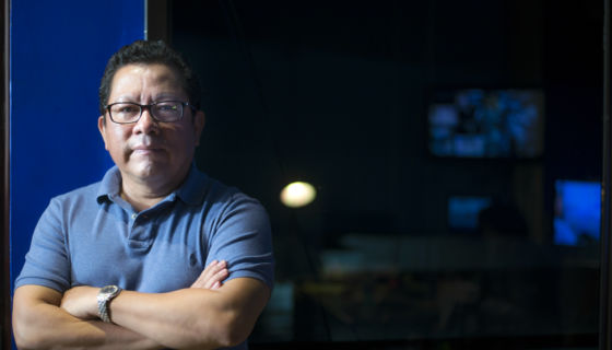 Miguel Mora, periodista y propietario de 100% Noticias. LA PRENSA / Óscar Navarrete.