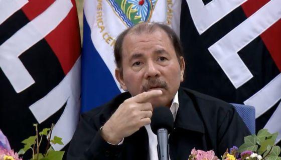 Daniel Ortega durante su comparecencia sobre las protestas en Nicaragua. LA PRENSA/ CAPTURA