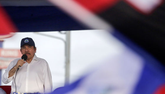El 30 de abril de 2018, Daniel Ortega realizó una convocatoria masiva, después de varios días de protestas. LAPRENSA/AP