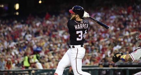 Bryce Harper, con 12 jonrones, es líder de la Liga Nacional es este rubro. LA PRENSA/Patrick McDermott/Getty Images/AFP