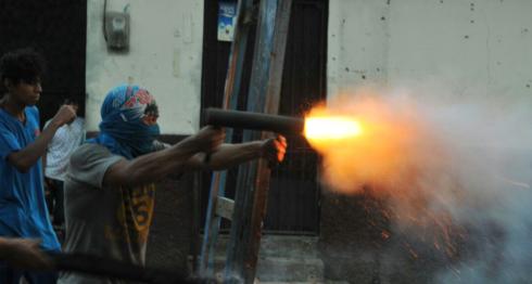 Los pobladores de Monimbó usaban morteros para defenderse de los ataques de la Policía y paramilitares. LA PRENSA/ ARCHIVO