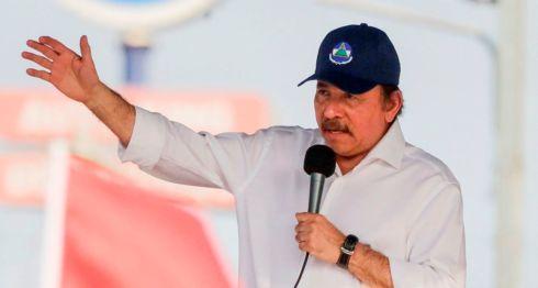 Daniel Ortega durante el acto del 30 de abril de 2018. LA PRENSA/ AFP