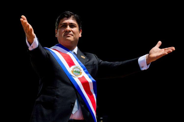 Carlos Alvarado, nuevo presidente de Costa Rica, asume la dirección del país el martes 8 de mayo del 2018. LA PRENSA/ AP