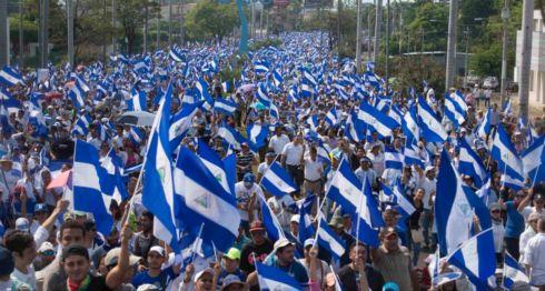 La tercera marcha multitudinaria en Nicaragua contra el Gobierno de Daniel Ortega se realizó este miércoles 9 de mayo con la participación de miles de ciudadanos. LA PRENSA/ JADER FLORES