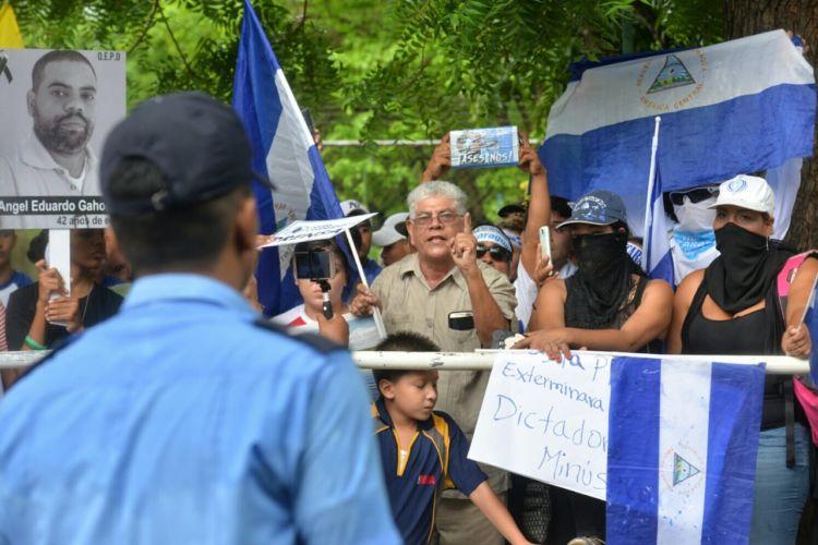 Angel Gahona, protestas, Nicaragua