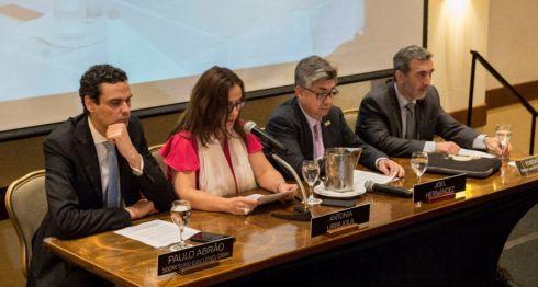 Los relatores de la CIDH que visitaron Nicaragua, presentaron el informe tras cuatro días de visitas a varios departamentos del país. LA PRENSA/ URIEL MOLINA