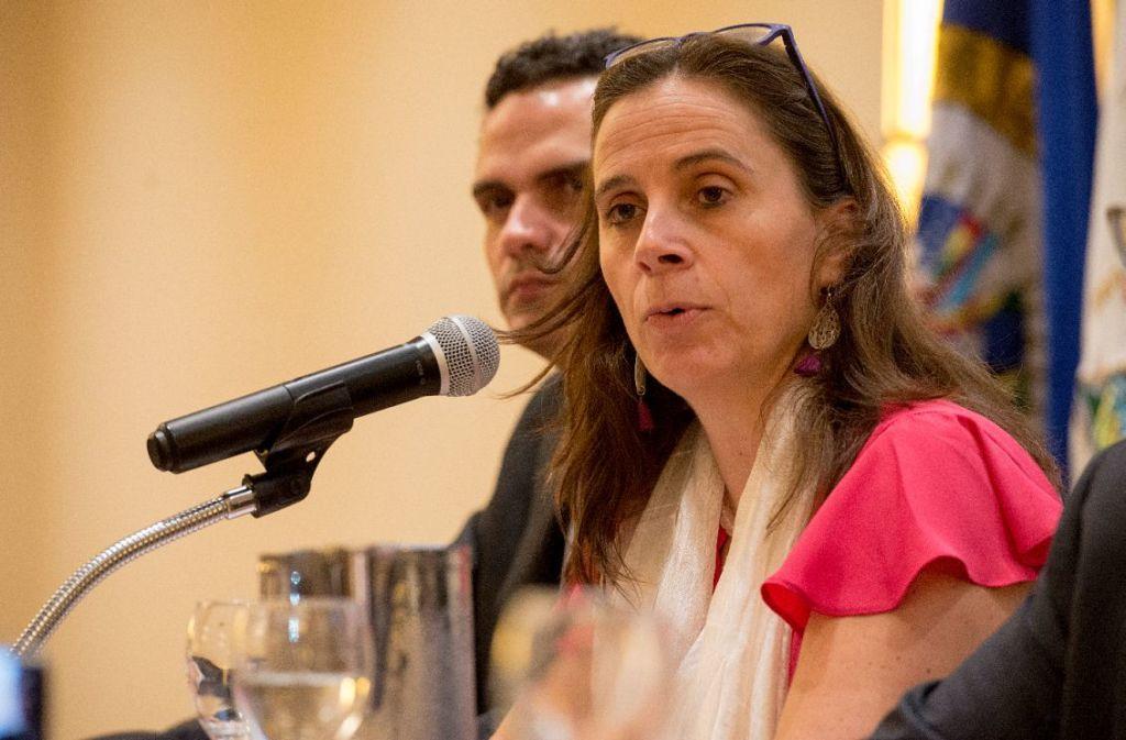 El informe de la CIDH fue leído por la relatora de país, Antonia Urrejola. LA PRENSA/ URIEL MOLINA