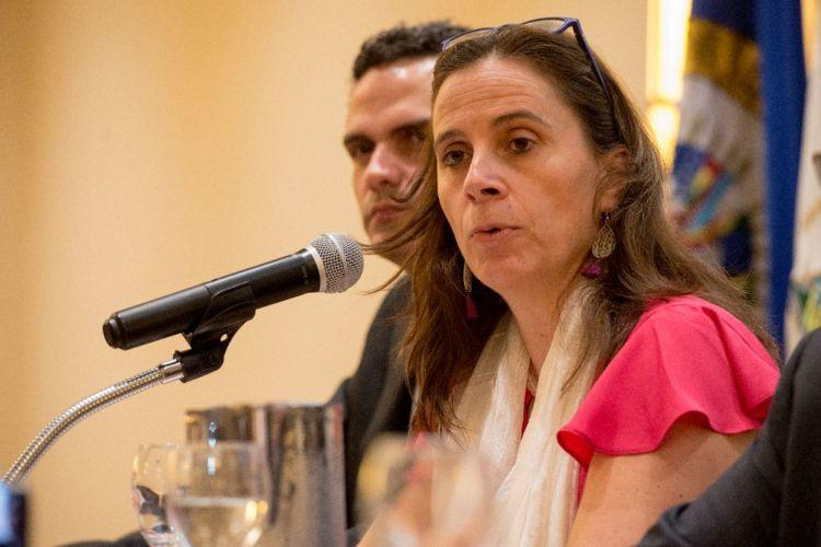 El informe de la CIDH fue leído por la relatora de país, Antonia Urrejola. LA PRENSA/ URIEL MOLINA. Comisión Porras