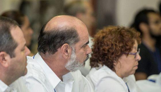 Michael Healy, presidente de Upanic, durante su participación en el diálogo nacional. Sandra Ramos junto a él. LA PRENSA/ CARLOS VALLE