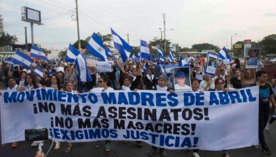 """Las """"madres de abril"""" aglutina a las progenitoras de los jóvenes asesinados por la represión del Gobierno de Daniel Ortega. LA PRENSA/ JADER FLORES"""