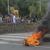 Estudiantes y ciudadanos reanudan tranque en la entrada León-Managua