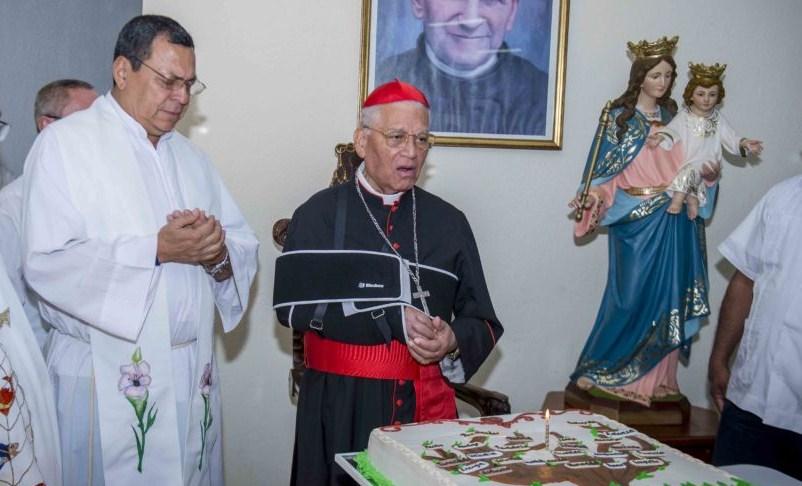 El Cardenal Miguel Obando y Bravo celebró a inicios de año su cumpleaños 90 con una misa que se celebró en el auditorio María Auxiliadora en la universidad UNICA. Ya se le veía mal de salud. LA PRENSA/CARLOS VALLE