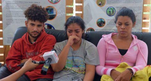Bryan Miranda, Valeska Sandoval y Gretchel Miranda, los jóvenes secuestrados durante la noche de este lunes. LA PRENSA/ ROBERTO FONSECA