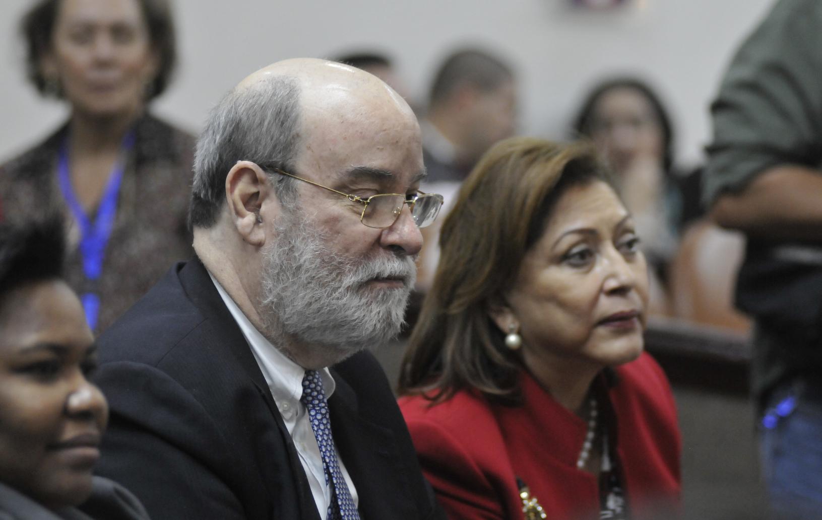 Rafael Solís Cerda, magistrado orteguista de y Alba Luz Ramos, presidenta de la Corte Suprema de Justicia. LA PRENSA/ ARCHIVO