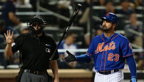 El mexicano Adrián González no llenó la expectativas de los Mets de Nueva York con su pobre ofensiva. LA PRENSA/Rich Schultz/Getty Images/AFP
