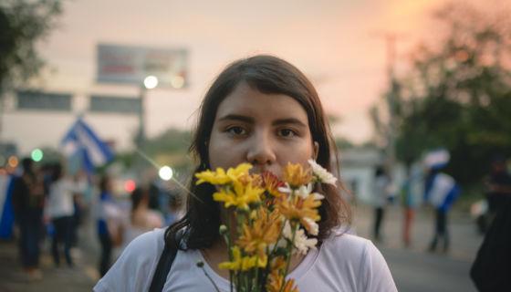 Madelaine Caracas, miembro de la Coalición Universitaria. LA PRENSA / Cortesía: Franklin Villavicencio Bravo.