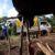 Campesinos abren tranque en Nueva Guinea para permitir traslado de alimentos a Bluefields