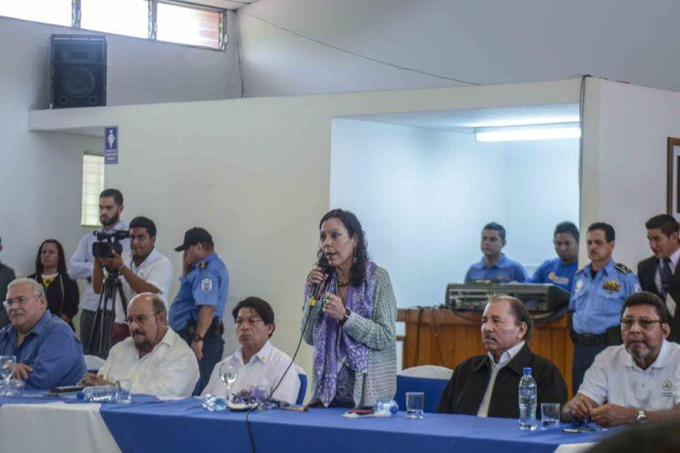 Rosario Murillo, protesta, obispos, Masaya, diálogo