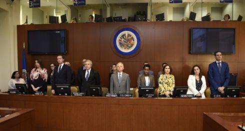 sesión de la OEA, Nicaragua