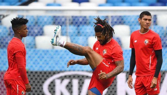 La selección de futbol de Panamá podría ser eliminada de su primer Mundial si pierde hoy frente a Inglaterra, que luce favorita en el duelo. LA PRENSA/ AFP/ JOHANNES EISELE