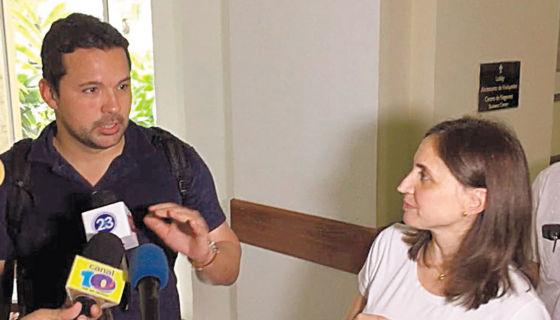 Álvaro Botero y Fiorella Melzi, dos de los integrantes de la comisión técnica de la CIDH que llegó a Nicaragua. LA PRENSA/CORTESÍA