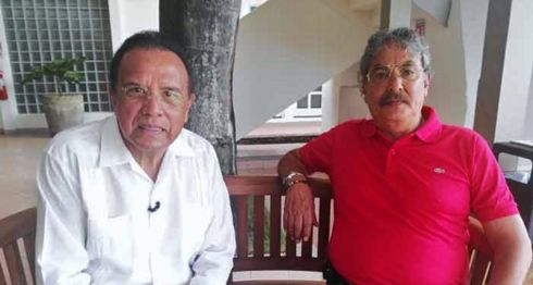 Los reporteros mexicanos Edgar Hernández y Pedro Talavera, después de su arribo a Nicaragua el pasado 17 de julio de 2017. LA PRENSA/ EDUARDO CRUZ