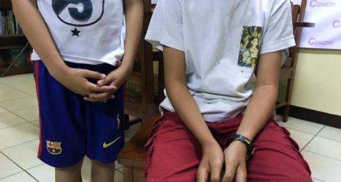 Los dos niños agredidos por paramilitares en Batahola Norte, Managua. LA PRENSA/ CORTESÍA
