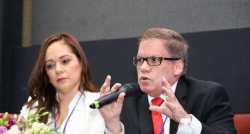 José Adán Aguerri, presidente del Cosep, durante su participación en la cumbre del SICA en República Dominicana. LA PRENSA/ TOMADO DE TWITTER
