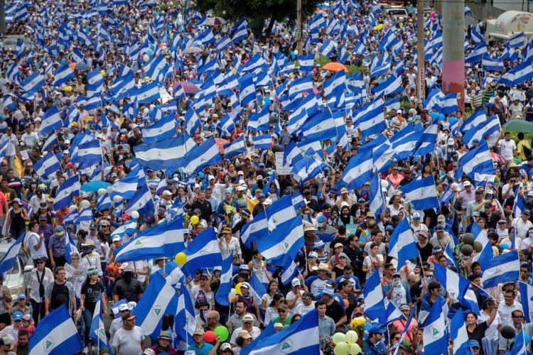 La Marcha de las Flores en Managua en honor a los niños y adolescentes asesinados por el Gobierno de Daniel Ortega en Nicaragua. LA PRENSA/ ÓSCAR NAVARRETE