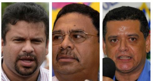 Fidel Moreno, Francisco López y Francisco díaz, los tres funcionarios orteguistas sancionados por Estados Unidos con la Ley Magnitsky. LA PRENSA/ ARCHIVO