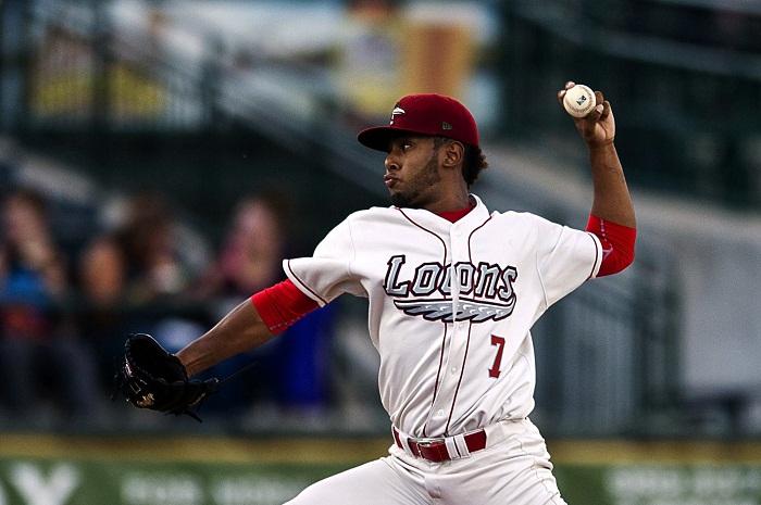 Leonardo Crawford juega para la organización de los Dodgers de Los Ángeles en Clase A Avanzada. LA PRENSA/CORTESÍA