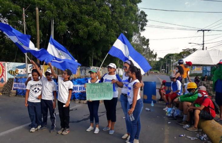 Especialista en Niñez considera contraproducente la participación de niños en las marchas que se realizan en Nicaragua ya que este no es un ambiente seguro para los menores. LA PRENSA/ ARCHIVO