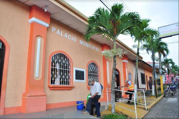 Fachada principal de la alcaldía de Camoapa, en Boaco. LA PRENSA/MELVIN RODRÍGUEZ