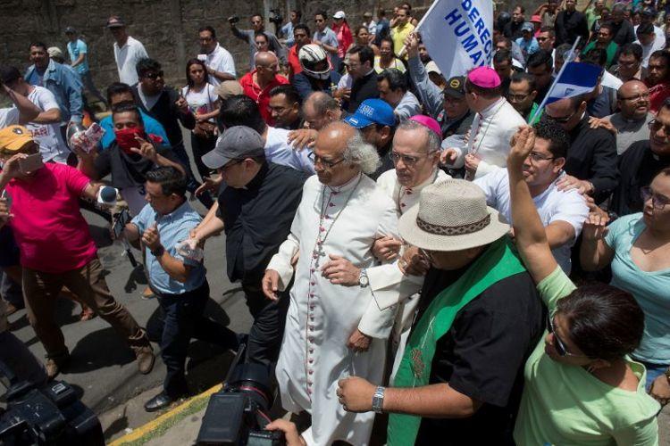obispos, Nicaragua, protestas