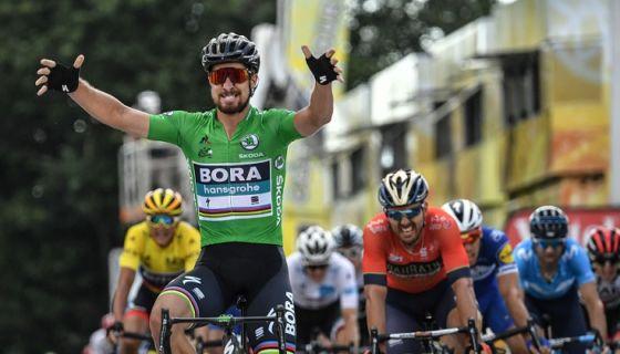 Peter Sagan ganó por segunda vez una etapa del Tour de Francia, la quinta, este miércoles. LA PRENSA/AFP / Marco BERTORELLO