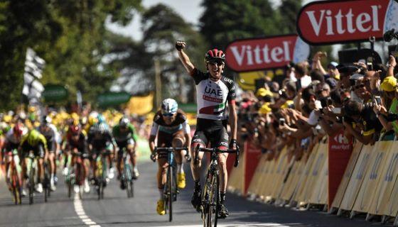 Dan Martin ganó la sexta etapa del Tour de Francia, la segunda victoria en su carrera. LA PRENSA/AFP / Marco BERTORELLO