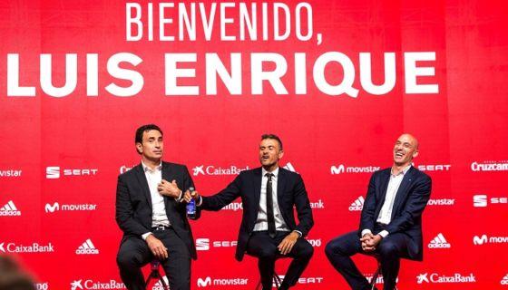 Luis Enrique Martínez fue presentado oficialmente como el nuevo seleccionador de España. LA PRENSA/EFE /Rodrigo Jiménez